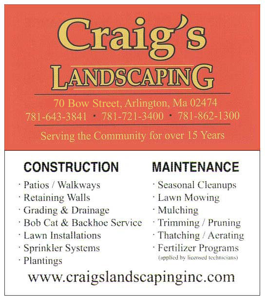 Craig's Landscaping Business Card